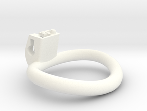Cherry Keeper Ring - 52x41mm Wide Oval (~46.7mm) in White Processed Versatile Plastic