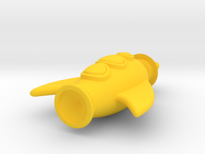 Rocket Pendant - Type-3 in Yellow Processed Versatile Plastic