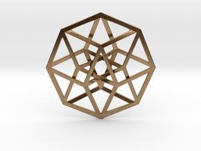 4D Hypercube (Tesseract) in Natural Brass