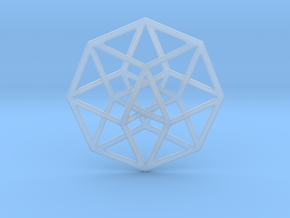 4D Hypercube (Tesseract) in Smooth Fine Detail Plastic