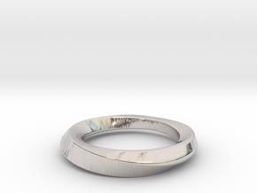 3/4 Mobius Ring (Inside diameter 16.6 mm) in Platinum
