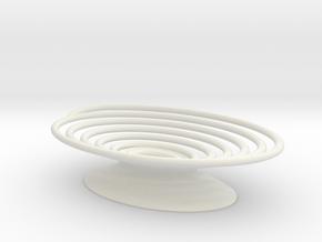 Spiral Soap Dish in White Natural Versatile Plastic