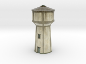 C-Nus02 - Water tower in Glossy Full Color Sandstone