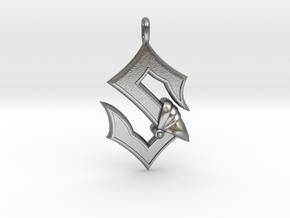 Sabaton Pendant in Natural Silver