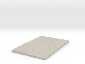 Model of White Rock in Natural Sandstone