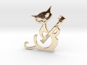 Banjo cat in 14k Gold Plated Brass