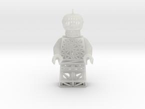 Los Muertos Suger Skull Lego Man Pendent in Smooth Fine Detail Plastic