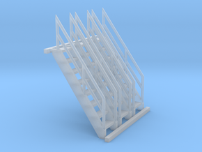 'N Scale' - (3) 8' Ships Ladder in Smooth Fine Detail Plastic