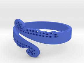 Octopus tentacle ring in Blue Processed Versatile Plastic