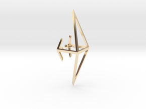Octahedron Ear Cuff in 14K Yellow Gold