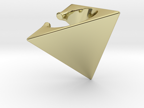 Tetrahedron Ear Cuff in 18k Gold Plated Brass
