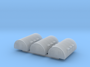 1/700th scale Nissen hut (3 pieces) in Smooth Fine Detail Plastic