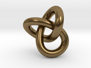 Trefoil Knot 1inch in Natural Bronze