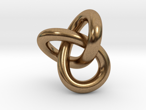 Trefoil Knot 1inch in Natural Brass