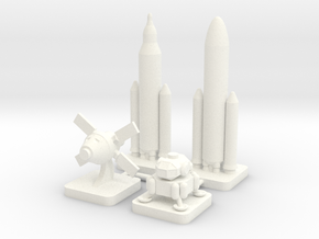 Mini Space Program, SLS, 4-set in White Processed Versatile Plastic