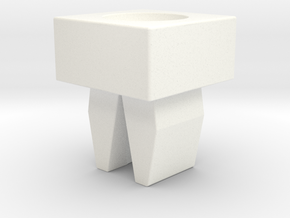 CFTBL Chase Light Fastening Clip v3 in White Processed Versatile Plastic