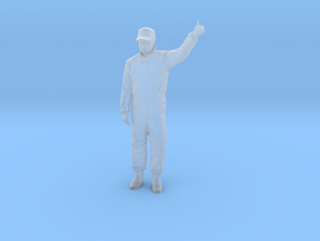 1/43 Racing Driver Good Luck Pose in Smooth Fine Detail Plastic
