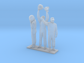 1/43 180cm Three Tall Racing Drivers in Smooth Fine Detail Plastic