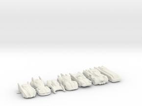 BATMOBILES ROUND TWO 285 scale in White Natural Versatile Plastic