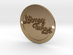 Looney Tunes Sideplate  in Polished Gold Steel