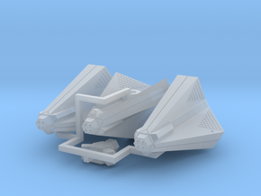 3788 Scale Tholian Destroyers (3) SRZ in Smooth Fine Detail Plastic