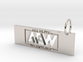 AEW Pendant 1 in Rhodium Plated Brass