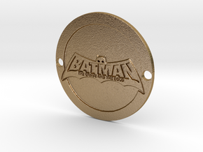 Batman Brave and the Bold Sideplate in Polished Gold Steel