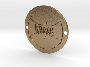The Batman Sideplate in Polished Gold Steel