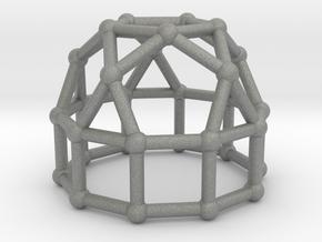 0777 J21 Elongated Pentagonal Cupola (a=1cm) #2 in Gray PA12
