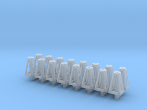 Jack Stands 16 pack 1-64 Scale in Smooth Fine Detail Plastic