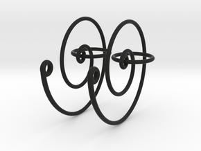Spiral Earrings in Black Strong & Flexible