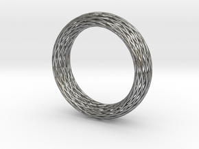 Toroidal Knot Bangle in Natural Silver