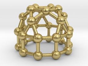 0778 J21 Elongated Pentagonal Cupola (a=1cm) #3 in Natural Brass