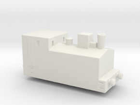 alvf ww1 armoured loco steam  in White Natural Versatile Plastic