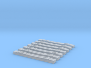 S7 5EF28 v0.9 Concrete Sleepers (7 Pieces) in Smooth Fine Detail Plastic