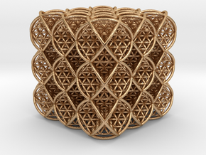 Cube of Life 3 x 3 x 3 in Natural Bronze