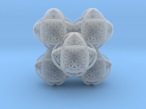 Flower of Life Stack 7 in Smooth Fine Detail Plastic