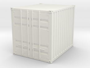 1:72 10 ft Container in White Natural Versatile Plastic