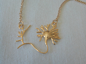 Neuron Pendant in 18k Gold Plated Brass