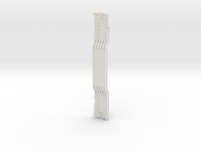 General Steel Industries Depressed Center Flatcar  in White Natural Versatile Plastic: 1:64 - S