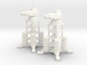 6mm - Colony Defense Tower in White Processed Versatile Plastic