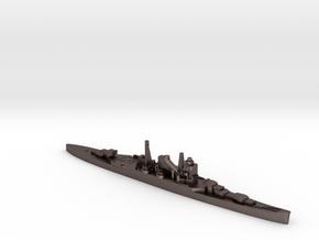 IJN Mikuma cruiser 1:2400 WW2 in Polished Bronzed-Silver Steel