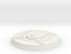 Blood and Shield 60mm base x1 in White Natural Versatile Plastic