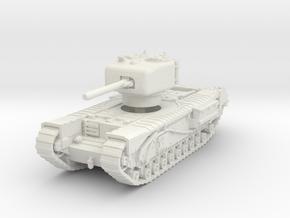 Churchill IV 6pdr 1/76 in White Natural Versatile Plastic