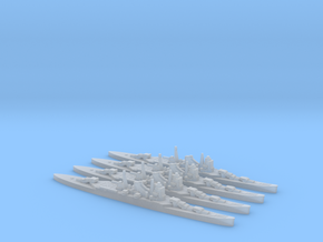 4 pack IJN Mogami cruiser 1:1800 WW2 in Smoothest Fine Detail Plastic