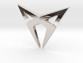 """Leon Cupra Bootlatch """"S"""" Badge - Logo Part in Platinum"""