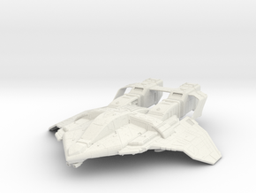 "Federation Attack Fighter V2  3.3"" in White Natural Versatile Plastic"
