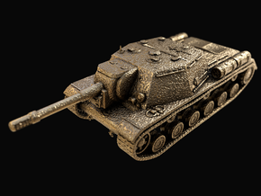 Tank - ISU-152 - size Large in Polished Gold Steel