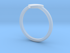 Simple heart ring  in Smooth Fine Detail Plastic