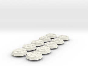 Ultra Marines 32mm bases x10 #1 in White Natural Versatile Plastic
